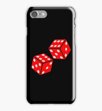 LUCKY, DOUBLE SIX, DICE, RED DICE, Throw the Dice, Casino, Game, Gamble, CRAPS iPhone Case/Skin