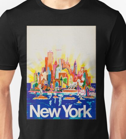 New York Vintage Travel Poster Unisex T-Shirt