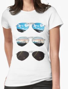 Aviators through the day Womens Fitted T-Shirt