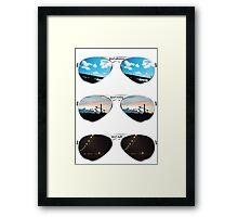 Aviators through the day Framed Print