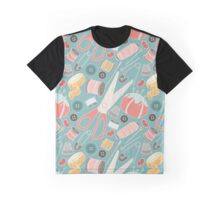 Suddenly Sewing in Teal Graphic T-Shirt