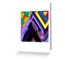 Psychedelic Glitch n.3 Greeting Card