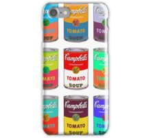Andy Warhol Campbell's soup cans pop art iPhone Case/Skin