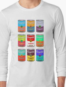 Andy Warhol Campbell's soup cans pop art Long Sleeve T-Shirt