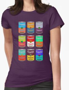Andy Warhol Campbell's soup cans pop art Womens Fitted T-Shirt