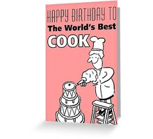 The World's Best Cook! Greeting Card
