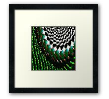 Triangular Glitch Framed Print