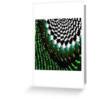 Triangular Glitch Greeting Card