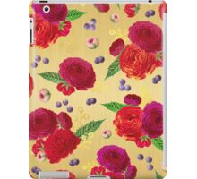Winter Berry Floral Gold iPad Case/Skin
