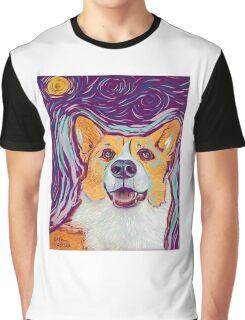 Stary Night Corgi Graphic T-Shirt