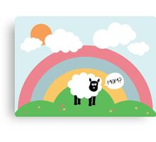 Confused sheep Canvas Print