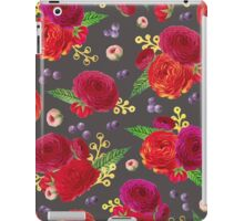 Winter Berry Floral Grey iPad Case/Skin