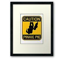 Caution: Pinkie Pie (MLP:FiM) Framed Print