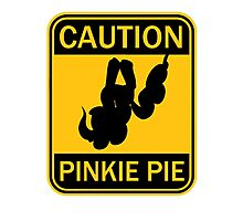 Caution: Pinkie Pie (MLP:FiM) Photographic Print
