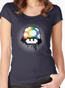 Rainbow Mushroom Women's Fitted Scoop T-Shirt