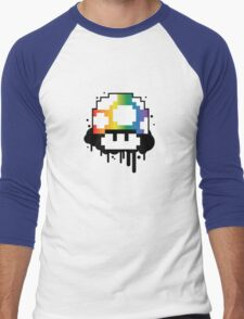 Rainbow Mushroom Men's Baseball ¾ T-Shirt