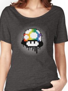 Rainbow Mushroom Women's Relaxed Fit T-Shirt