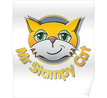Funny cat t-shirt Poster