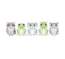 Raccoon, Frog, Lanky Dog, Prince, Dog Blue by Jean Gregory  Evans