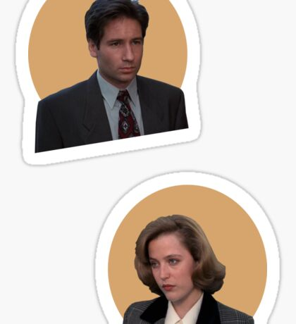 scully and mulder Sticker