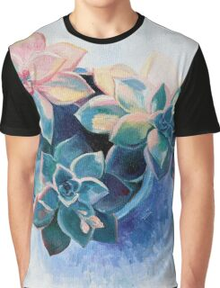 Pastel Succulents - an oil painting on canvas Graphic T-Shirt