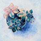 Pastel Succulents - an oil painting on canvas by micklyn