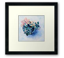 Pastel Succulents - an oil painting on canvas Framed Print