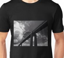 Black and White Bridge Unisex T-Shirt