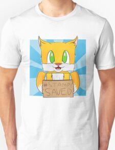 Funny cat saved t-shirt Unisex T-Shirt