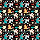Seamless jolly pattern with monsters by Tanor
