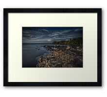 The Sky Grew Darker Framed Print