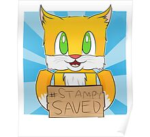 Funny cat saved t-shirt Poster
