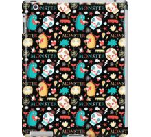 Seamless jolly pattern with monsters iPad Case/Skin