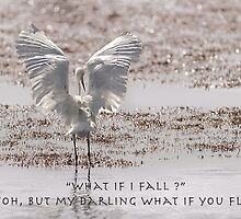 What if I fall- what if you fly by Heather Allen
