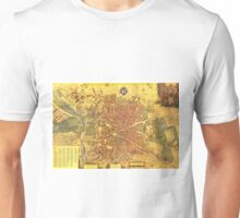 Vintage Map of Madrid Spain (1656) Unisex T-Shirt