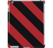 Louisville Kentucky Red & Black Sports Team Color Stripes iPad Case/Skin