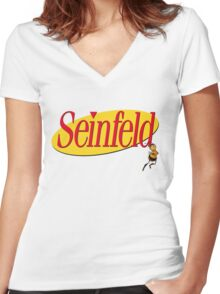 Seinfeld  with Barry B. Benson Women's Fitted V-Neck T-Shirt