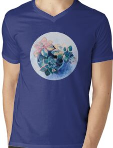 Pastel Succulents - an oil painting on canvas Mens V-Neck T-Shirt