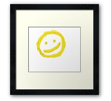 smiley face Framed Print