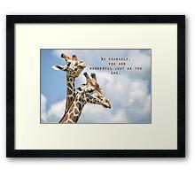 Be Wonderful Framed Print