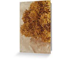 Dried Hydrangea Flower Arrangement  Greeting Card