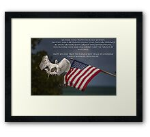 Pledge of Allegiance  Framed Print