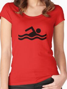 Swimming logo Women's Fitted Scoop T-Shirt