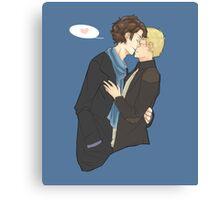 sharing a kiss Canvas Print