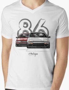 Toyota AE86 hachi roku Mens V-Neck T-Shirt