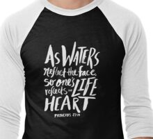 Proverbs 27: 19 II Men's Baseball ¾ T-Shirt