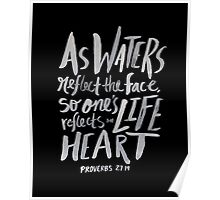 Proverbs 27: 19 II Poster