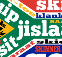 South African slang and colloquialisms  Sticker
