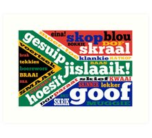 South African slang and colloquialisms  Art Print