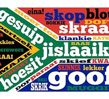 South African slang and colloquialisms  by piedaydesigns